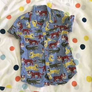 M&S shirt animal prints  4-5