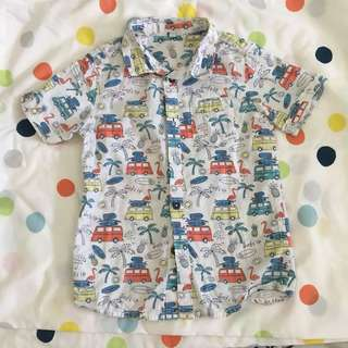 M&S kids shirt tropical print 4-5
