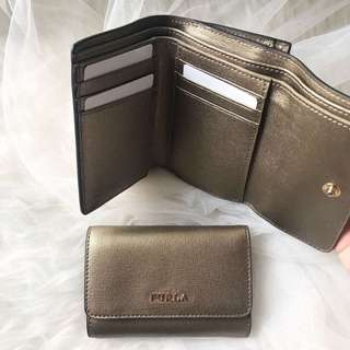 NEW Furla Trifold wallet gold