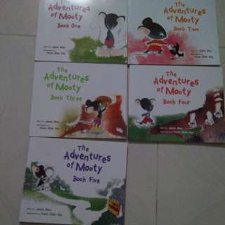 The adventures of mooty 5 books from Marshall cavendish