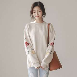Free postage 🔥 women fashion loose casual o-neck floral embroidery