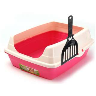CAT LITTER BOX WITH SCOOP - PINK AND BLUE *INSTOCKS*