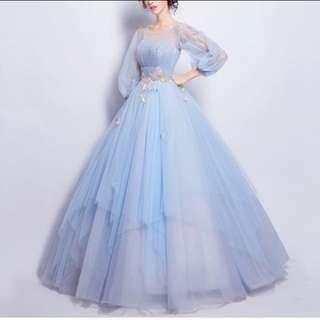 Light Blue Gown/ Prom Dress