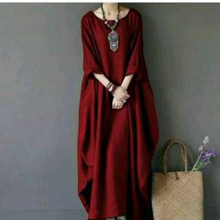 Rx. Marshanda Dress Maroon, White, Pink, Navy