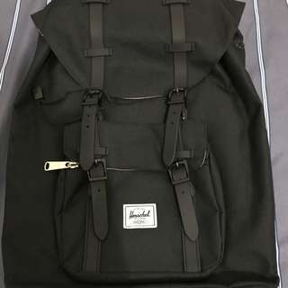 Herschel 17L Little America Backpack ..Black Rubber..