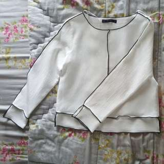 Zara Simple White Shirt (size S)