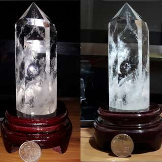 Clear Quartz Crystal With Stand