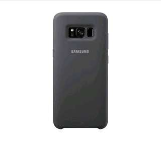 Samsung silicone cover casing for S8+ - Silver grey