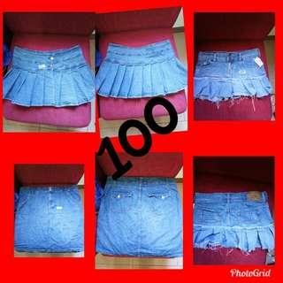 Take all skirt miniskirt denim