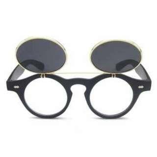 Kacamata Fashion Double Frame Steampunk