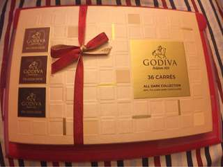 Godiva 36 Carres All Dark Collection 50% 72% 85%