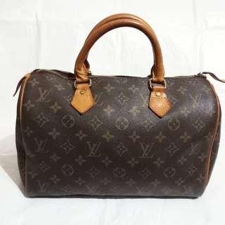 Louis Vuitton Speedy 30 Hand Bag Monogram Brown Auth. Gucci bally prada chanel hermes