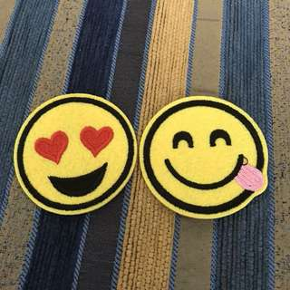 Iron On Patches smiley 2 pieces set Iron On patches