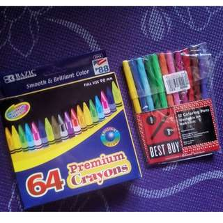Crayons and Color Pens