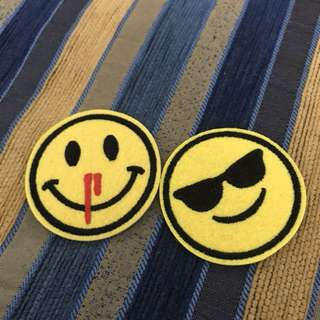Iron On Patches smiley edition 2 pcs Iron Patch On Sticker back ideal for jacket shirt bag shoe etc