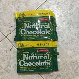 Natural chocolate (tablea) 2packs