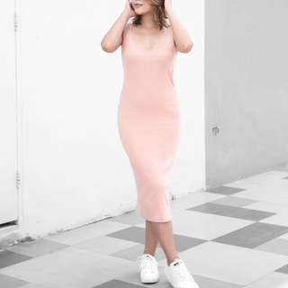 Light pink bodycon dress