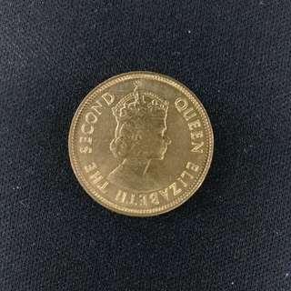 全新 1974年英女皇頭香港一毫硬幣