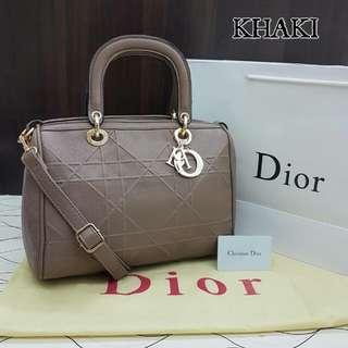 Dior Granville Polochon Khaki Bag