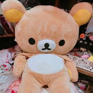 🚚 日本正版拉拉熊 懶懶熊 娃娃 LL號 77公分