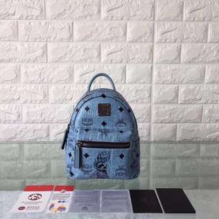 MCM  Vistos Backpack  Blue Colour