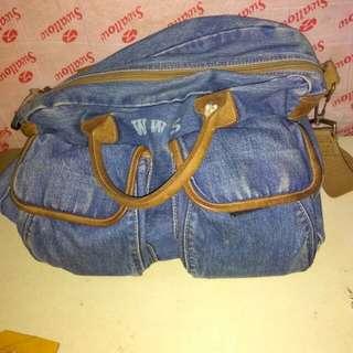 Tas jeans selempang wws