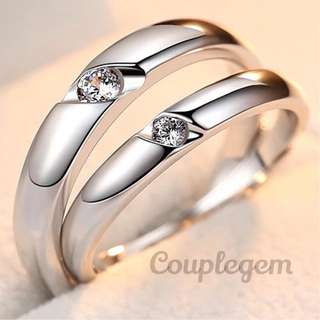 925 sterling silver couple ring wedding band