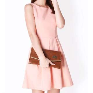 (L) AforArcade Dress in Peach