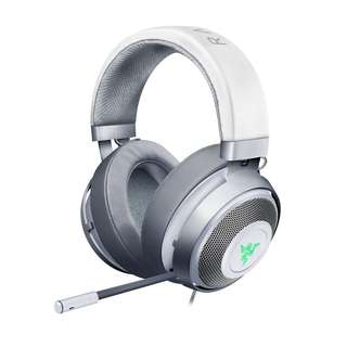 Razer Kraken 7.1 V2 Chroma USB Gaming Headset - Oval Ear Cushions - Mercury White