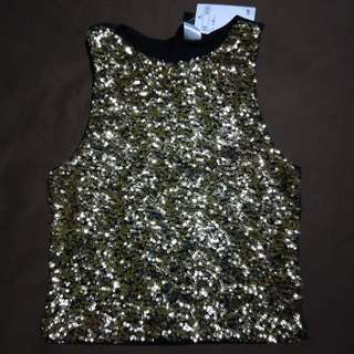 Brand new H&M sequin crop top
