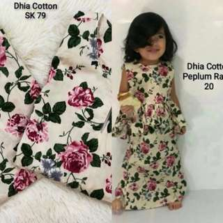 Peplum Rania for kids/Baju Kurung Moden for Adult (10+1free)