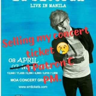 Ed Sheeran Live In Manila Concet Ticket