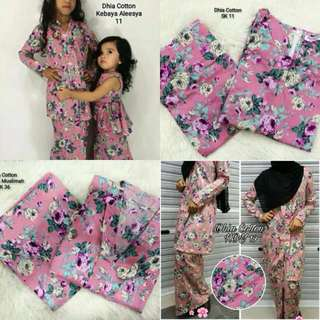 Baju kurung moden adult/ baju kebaya kids/ peplum rania for kids (10+1free)