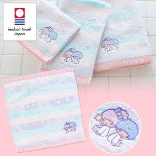 Japan Sanrio Little Twin Stars Imabari Hand Towel