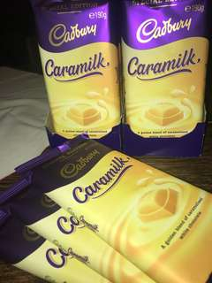 Caramilk Cadbury 190g blocks (NOT RECALLED EDITION)