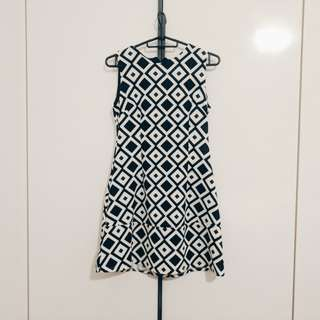 Retro mod swing dress