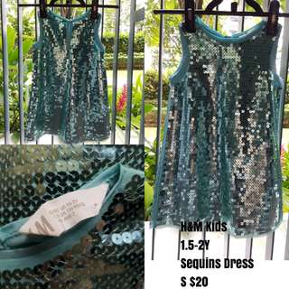 H&M Kids Sequins Dress 1.5-2Y