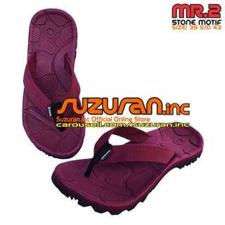 Suzuran Sandal Gunung Flip Flop (MR2) Maroon (size 39 s/d 43)