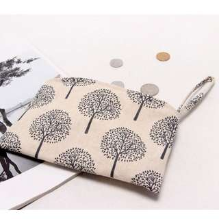 Printed Pouch - Trees