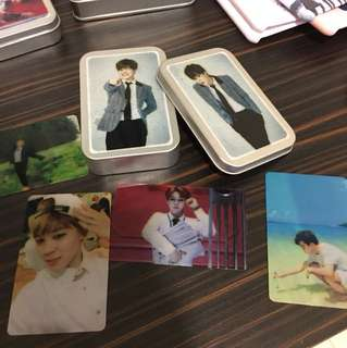 box of BTS Jimin's cards