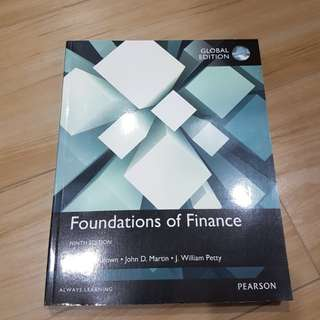 Foundations of Finance 9th Edition Pearson
