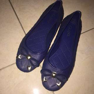 Cute Jelly Flat Shoes Size 37