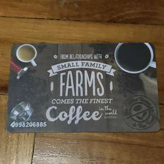 Coffee Bean & Tea Leaf Cards Collectable (No Value)
