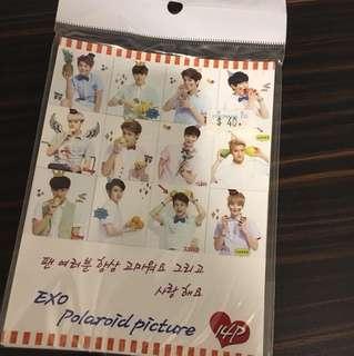 EXO's Polaroid pictures
