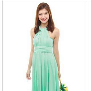 (The Bmd Shop) Cherie Convertible Classic Dress In Tiffany