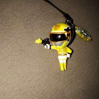 Yellow ranger phone bling