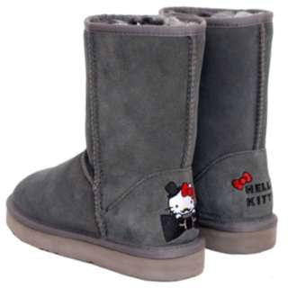 HELLO KITTY X Ann'S 俏皮達利真皮雪靴-灰40號