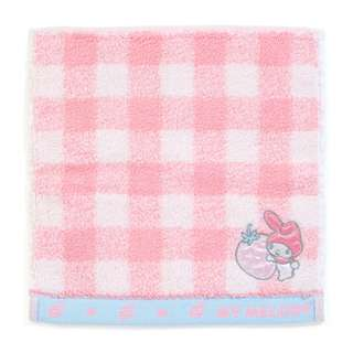 Japan Sanrio My Melody Petit Small Towel Handkerchief (Check)