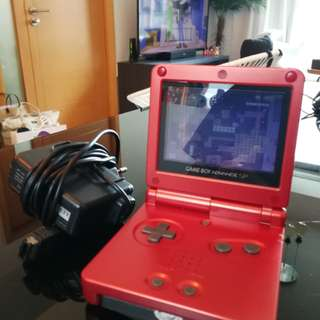 Gameboy Advance SP with 123 in 1 game.