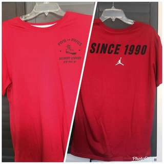 Jordan Tee since 1990 red